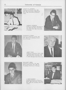 The Cypress Knee, 1965, Faculty and Research Staff, Lyle W. R. Jackson, James H. Jenkins, Richard W. Jones, Jack T. May, William T. Moss, J. Reid Parker, pg. 12