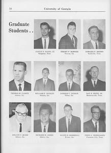 The Cypress Knee, 1965, Graduate Student, Justus N. Baird, Emory F. Bowers, Edward F. Brown, Thomas M. Clonts, William F. Dudley, Gorman D. Eidson, Ray R. Hicks, Melvin T. Huish, Richard W. Jones, Allen D. Marshall, Fred A. Neergaard, pg. 18