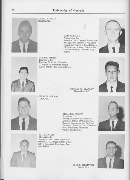 The Cypress Knee, 1965, Seniors, Frank H. Smith, John W. Smith, W. Earl Smith, Thomas E. Stanley, Oscar M. Stewart, Gerald L. Stokes, Hal E. Tatum, Joel L. Thornton, pg. 26