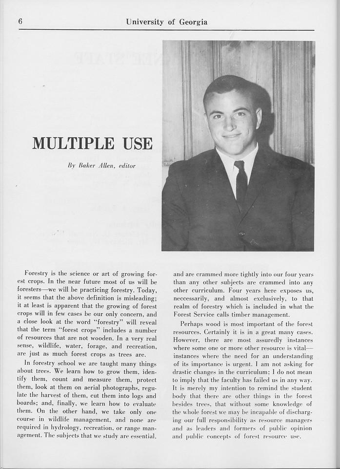 "The Cypress Knee, 1965, ""Multiple Use"", Baker AAllen, pg. 6"