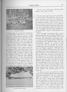 """The Cypress Knee, 1965, """"Summer Camp 1909-1964"""" (continued), pg. 41"""