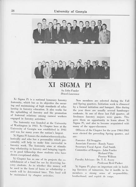 The Cypress Knee, 1965, Xi Sigma Pi, John Fowler, Dewel Lawrince, pg. 38
