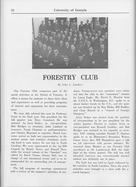 The Cypress Knee, 1965, Forestry Club, John L. Lambert, pg. 36