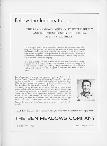 The Cypress Knee, 1966, The Ben Meadows Company, pg. 59