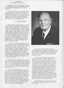 """The Cypress Knee, 1966, """"A Tribute to Judge Harley Langdale"""", pg. 42"""