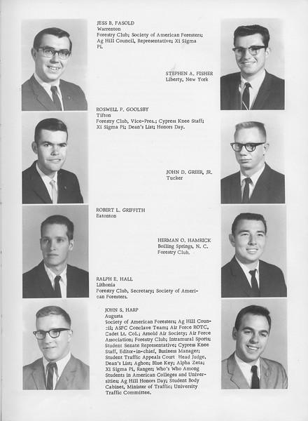The Cypress Knee, 1966, Jess B. Fasold, Stephen A. Fisher, Roswell P. Goolsby, John D. Greer Jr., Robert L. Griffith, Herman O. Hamrick, Ralph E. Hall, John S. Harp, pg. 19