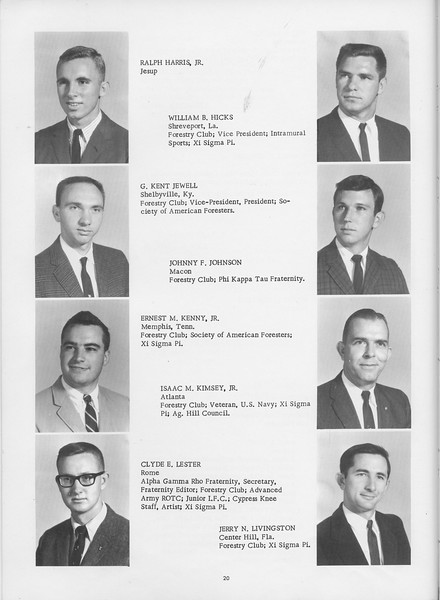 The Cypress Knee, 1966, Harris, Hicks, Jewell, Johnson, Kenny, Kimsey, Lester, Livingston, pg. 20