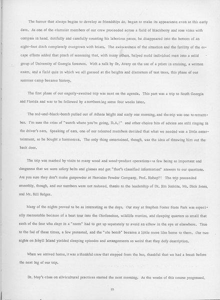 The Cypress Knee, 1966, Summer Camp-1965 (continued), pg. 35