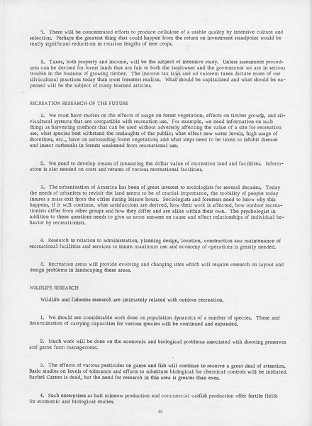 """The Cypress Knee, 1966, """"Forestry Research for the Future"""" (continued), pg. 50"""