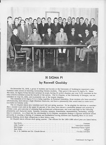 The Cypress Knee, 1966, Xi Sigma Pi, Roswell Goolsby, pg. 32
