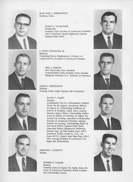 The Cypress Knee, 1966, Seniors, Jean Paul J. Kruglewicz, James H. McMichael, J. Olney Meadows Jr., Neil J. Mercer, James I. Middleton, David P. Olliff, Preston F. Padgett, Lonnie H. Palmer, pg. 21