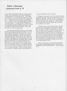 """The Cypress Knee, 1966, """"Editor's Message"""" (continued), pg. 52"""