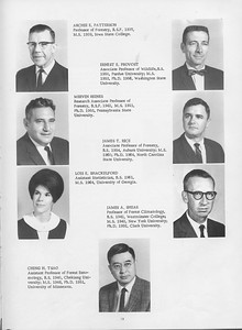 The Cypress Knee, 1966, Faculty and Research Staff, Archie E. Patterson, Ernest E. Provost, Mervin Reines, James T. Rice, Lois E. Shackelford, James A. Shear, Ching H. Tsao, pg. 13