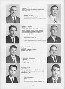 The Cypress Knee, 1966, Seniors, Charles M. Parrish, Ivan R. Pilcher, Charles R. Rousey, Benjamin R. Rozier Jr., Ben A. Sander, Kenneth M. Sanders, Leslie R. Slack, Thomas J. Smith, pg. 22