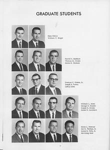 The Cypress Knee, 1966, Graduate Students, Rhen Bishop, William T. Bolger, Harold E. Burkart, Thomas M. Clonts, James G. Dickson, Gorman C. Eidson Jr., Joseph R. Fatora, LeRoy Jones, William L. Jones, George D. Kessler, Daniel R. Holder, James D. Lawrence, Eldon L. Norman, Joe H. Phillips Jr., James B. Potts Jr., Sin Meng Srun, pg. 16