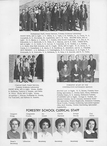 The Cypress Knee, 1966, Faculty and Research Staff, Margaret Gregg, Marguerite Powers, Jac Moore, Carole Harrison, Evelyn Dowdy, Kay Davis, pg. 14