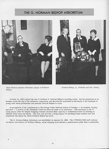 """The Cypress Knee, 1966, """"The G. Norman Bishop Aboretum"""", pg. 30"""