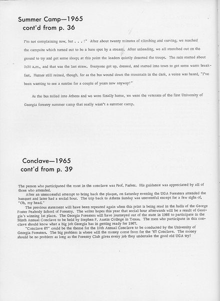 The Cypress Knee, 1966, Summer Camp (continued), Conclave-1965 (continued), pg. 54