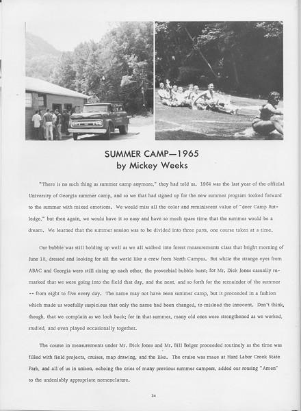 The Cypress Knee, 1966, Summer Camp-1965, Mickey Weeks, pg. 34