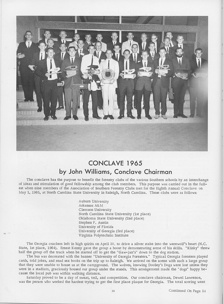 The Cypress Knee, 1966, Conclave 1965, John Williams, pg. 38