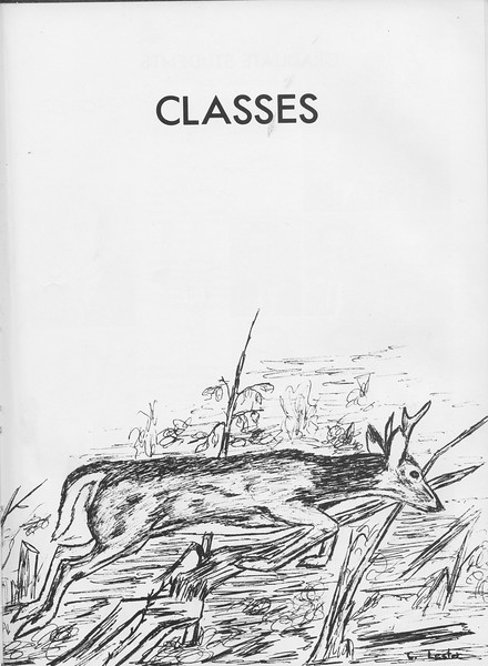 The Cypress Knee, 1966, Introduction to Classes, pg. 15