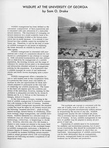 The Cypress Knee, 1966, Wildlife at the University of Georgia, Sam O. Drake, pg. 37