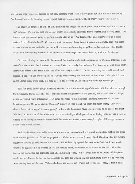 The Cypress Knee, 1966, Summer Camp -1965 (continued), pg. 36