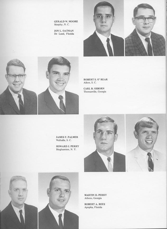 The Cypress Knee, 1968, Seniors, Gerald W. Moore, Jon L. Oatman, Robert S. O'Rear, Carl B. Osborn, James F. Palmer, Howard J. Perry, Martin D. Perry, Robert A. Rees, pg. 21