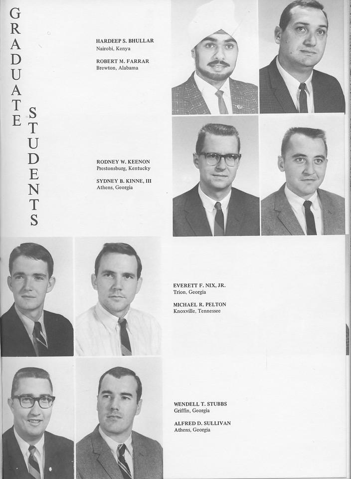 The Cypress Knee, 1968, Graduate Students, Hardeep S. Bhullar, Robert M. Farrar, Rodney W. Keenon, Sydney B. Kinne, Everett F. Nix, Michael R. Pelton, Wendell T. Stubbs, Alfred D. Sullivan, pg. 17