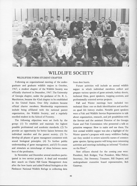 The Cypress Knee, 1968, Wildlife Society, pg. 46