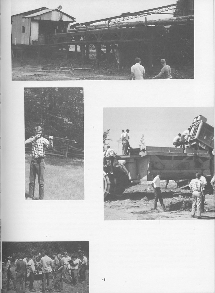 The Cypress Knee, 1968, Camp Photos, pg. 45