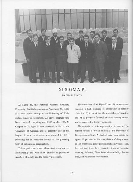 The Cypress Knee, 1968, Xi Sigma Pi, Charles Cox, pg. 34