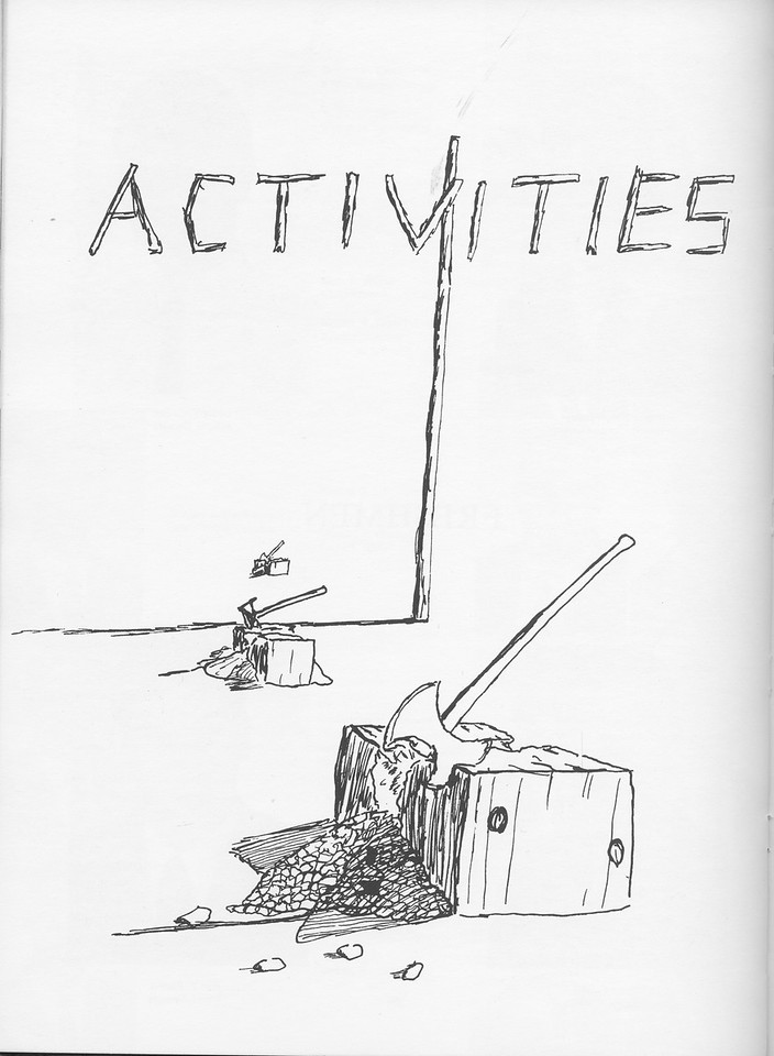 The Cypress Knee, 1968, Introduction to Activities, pg. 30