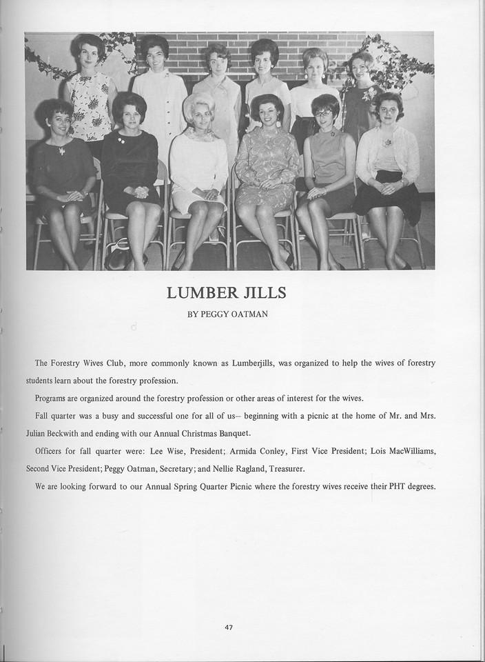 "The Cypress Knee, 1968, ""The Lumber Jills"", Peggy Oatman, pg. 47"