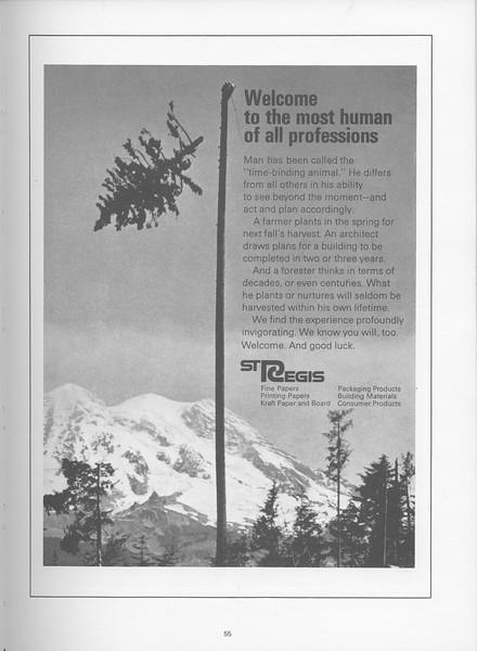 The Cypress Knee, 1968, St. Regis Paper Company, pg. 55