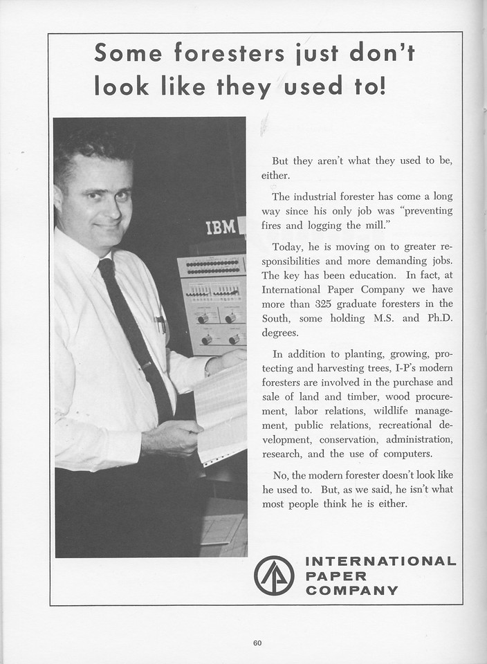 The Cypress Knee, 1968, International Paper Company, pg. 60