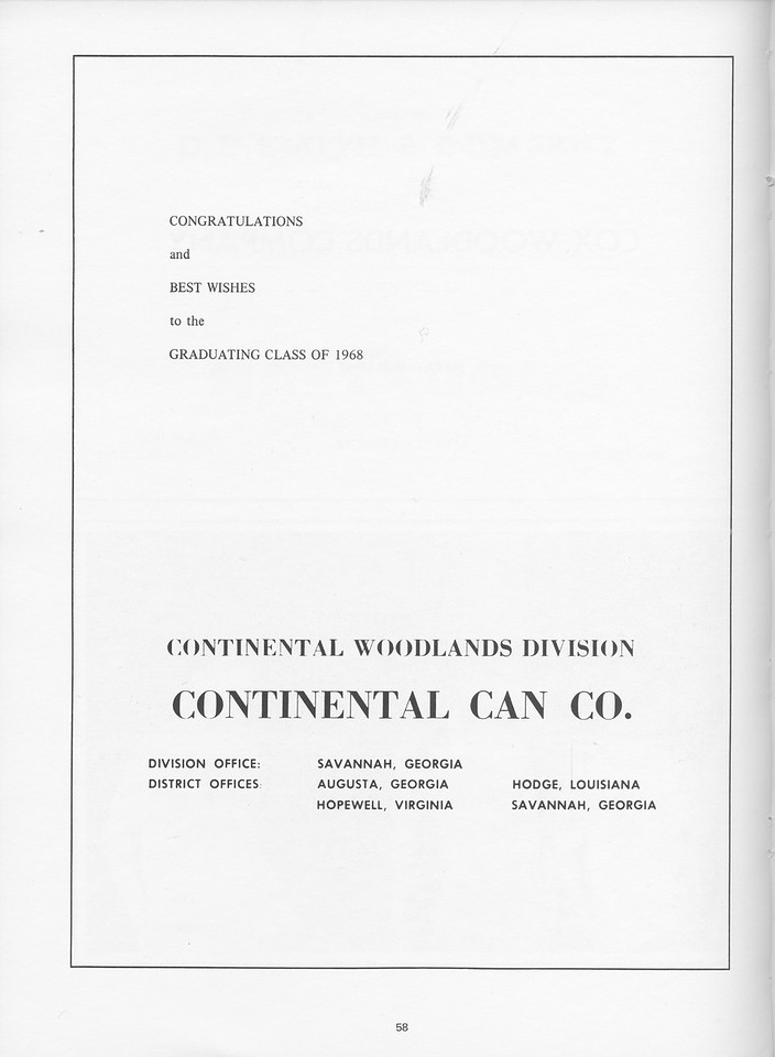 The Cypress Knee, 1968, Continental Can Co., pg. 58