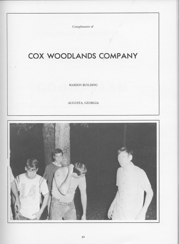 The Cypress Knee, 1968, Cox Woodlands Company, pg, 57