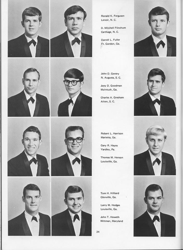 The Cypress Knee, 1970, Seniors, Ronald K. Ferguson, D. Mitchell Flinchum, Darrell L. Fuller, John D. Gentry, Joey D. Goodman, Charles A. Gresham, Robert L. Harrison, Gary R. Hayes, Thomas M. Henson, Tom H. Hilliard, Larry M. Hodges, John T. Howeth, pg. 24