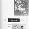 The Cypress Knee, 1970, Seniors, Grady Adams, Steve Alford, pg. 21