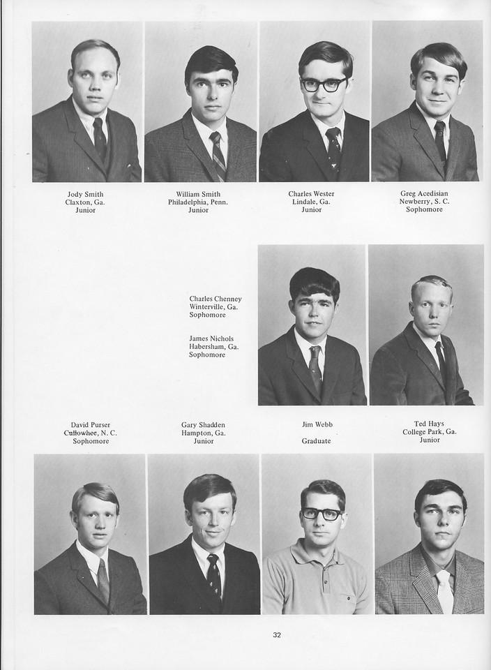 The Cypress Knee, 1970, Juniors, Jody Smith, William Smith, Charles Wester, Greg AAcedisian, Charles Chenney, James Nichols, David Purser, Gary Shadden, Jim Webb, Ted Hays, pg. 32