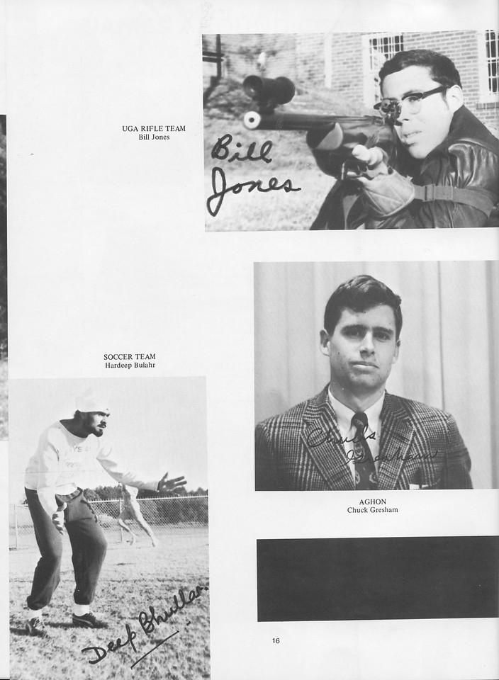 The Cypress Knee, 1970, Achievments, Bill Jones, Hardeep Bulahr, Chuck Gresham, pg. 16