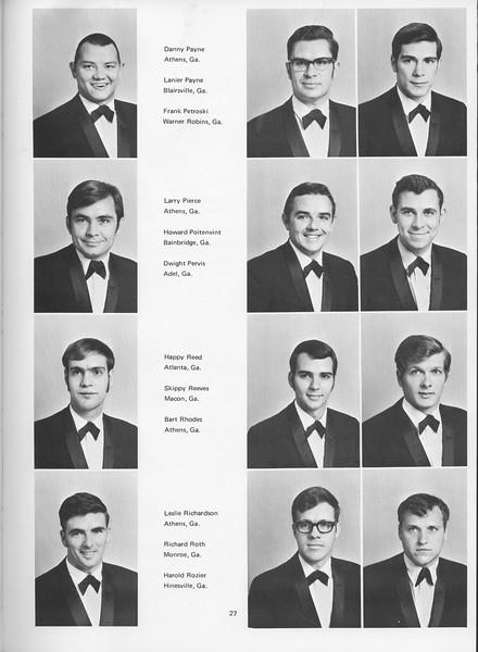 The Cypress Knee, 1970, Seniors, Danny Payne, Lanier Payne, Frank Petroski, Larry Perice, Howard Poitenvint, Dwight Pervis, Happy Reed, Skippy Reeves, Bart Rhodes, Leslie Richardson, Richard Roth, Harold Rozier, pg. 27