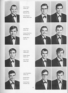 The Cypress Knee, 1970, Seniors, Danny Payne, Lanier Payne, Frank Petroski, Larry Perice, Howard Poitenvint, Dwight Pervis, Happy Reed, Skippy Reeves, Bart Rhodes, Leslie Richardson, Richard Roth, Harold Rozier, pg. 27