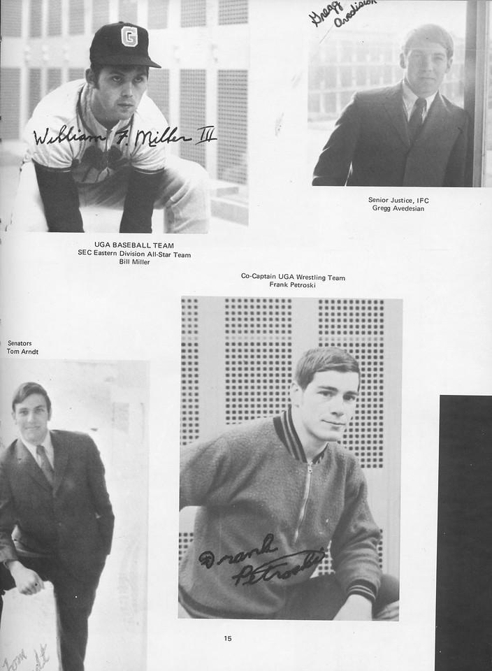 The Cypress Knee, 1970, Achievments, Bill Miller, Gregg Avedesian,Frank Petroski, pg. 15