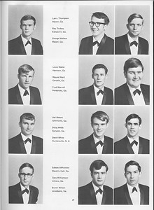 The Cypress Knee, 1970, Seniors, Larry Thompson, Ray Trubey, George Wallace, Louis Waller, Wayne Ward, Fred Warnell, Hal Waters, Doug Webb, David White, Edward Whitmire, Cary Williamson, Byron Wilson, pg. 29