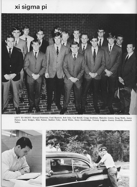 The Cypress Knee, 1970, Xi Sigma Pi, pg. 38