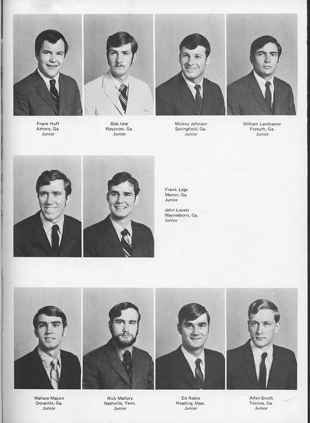 The Cypress Knee, 1970, Juniors, Frank Huff, Bob Islar, Mickey Johnson, William Landcaster, Frank Lege, John Lovett, Wallace Majure, Rick Mallory Ed Robie, Allen Smith, pg. 31