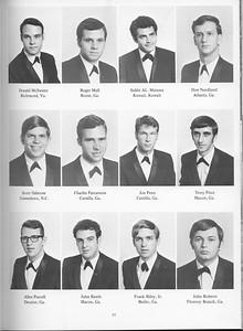 The Cypress Knee, 1971, Seniors, Donald McSween, Roger Mull, Subhi AL. Mutawa, Don Nordlund, Scott Osborne, Charles Parramore, Joe Penn, Terry Price, Allen Purcell, John Rawls, Frank Riley Jr., John Roberts, pg. 21