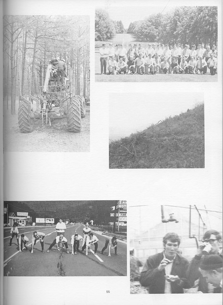 """The Cypress Knee, 1971, """"Camp"""" Photos, pg. 55"""